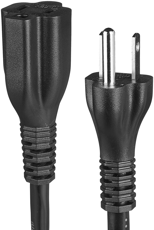 US 10 feet Black Basics Extension Cord