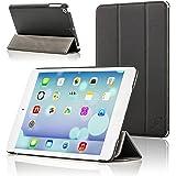 Forefront Cases® Apple iPad Mini / iPad Mini 2 / iPad Mini 3 Hülle Schutzhülle Tasche Bumper Folio Smart Case Cover Stand - Ultra Dünn Leicht mit Rundum-Geräteschutz und intelligente Auto Schlaf / Wach Funktion (SCHWARZ)