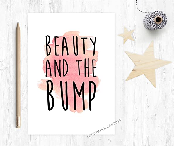 Funny pregnancy card beauty and the bump pregnant birthday card funny pregnancy card beauty and the bump pregnant birthday card to the bump bookmarktalkfo Choice Image