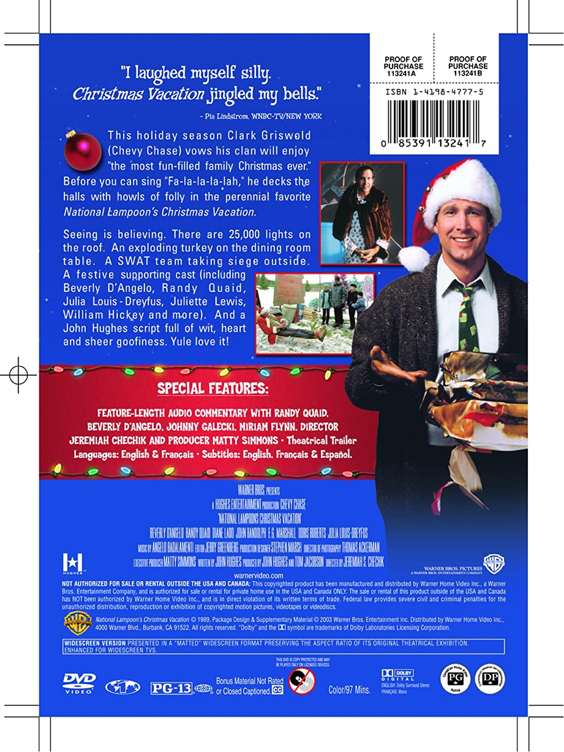 Amazon.com: National Lampoon\'s Christmas Vacation (Special Edition ...