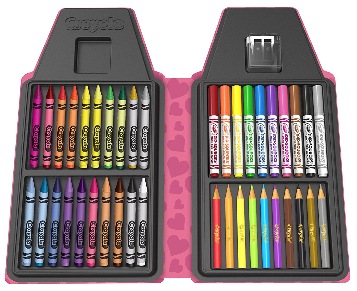 40 Art Tools and Paper Tickle Me Pink Crayola Tip Tool Kit Tip Character Case Makes a Great Gift Binney /& Smith 04-6900