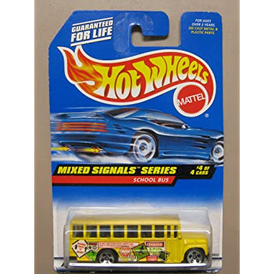 Hotwheels School Bus-Mixed Signals Series #4-4 #736: Toys & Games