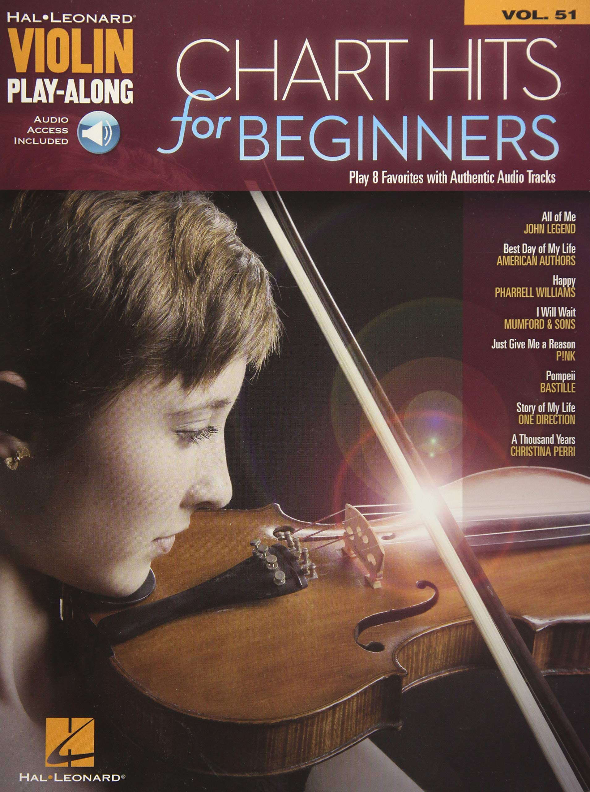 Amazon com: Chart Hits for Beginners: Violin Play-Along