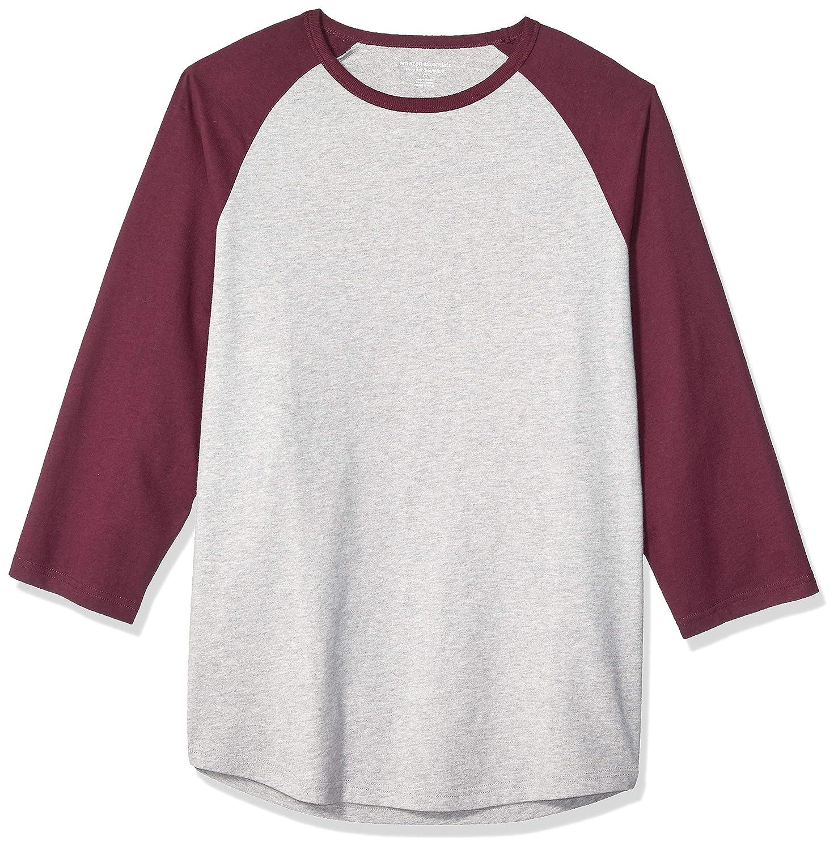 Essentials Mens Regular-fit 3//4 Sleeve Baseball T-Shirt