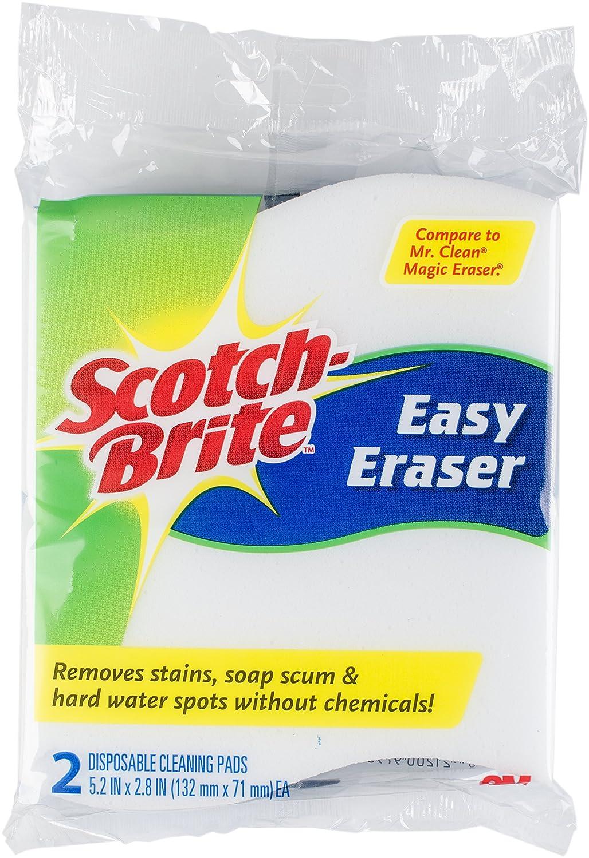 3M Scotch-Brite Easy Eraser Pad, Sponge, Blue/White, 15.24 x 12.7 x 2.54 cm 832TR-S