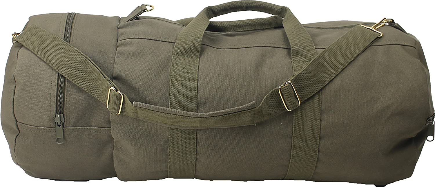 Olive Drab - Military Double-Ender Sports Shoulder Bag (Cotton Canvas) by Army  Universe  Amazon.in  Sports 00711ea0c2c
