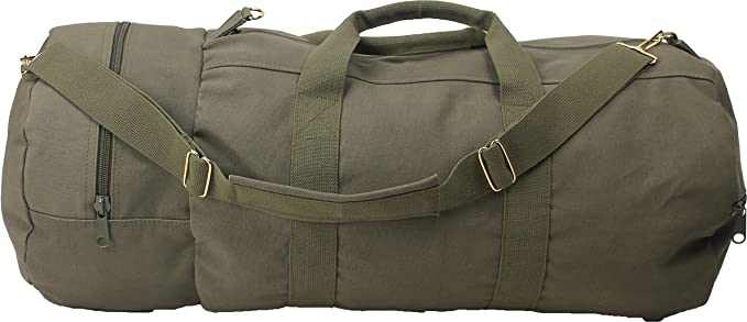 Cotton Canvas Large Shoulder Duffle Bag 9856f28705e
