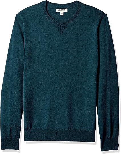 Marca Amazon - Goodthreads: suéter de lana de merino con cuello redondo para hombre
