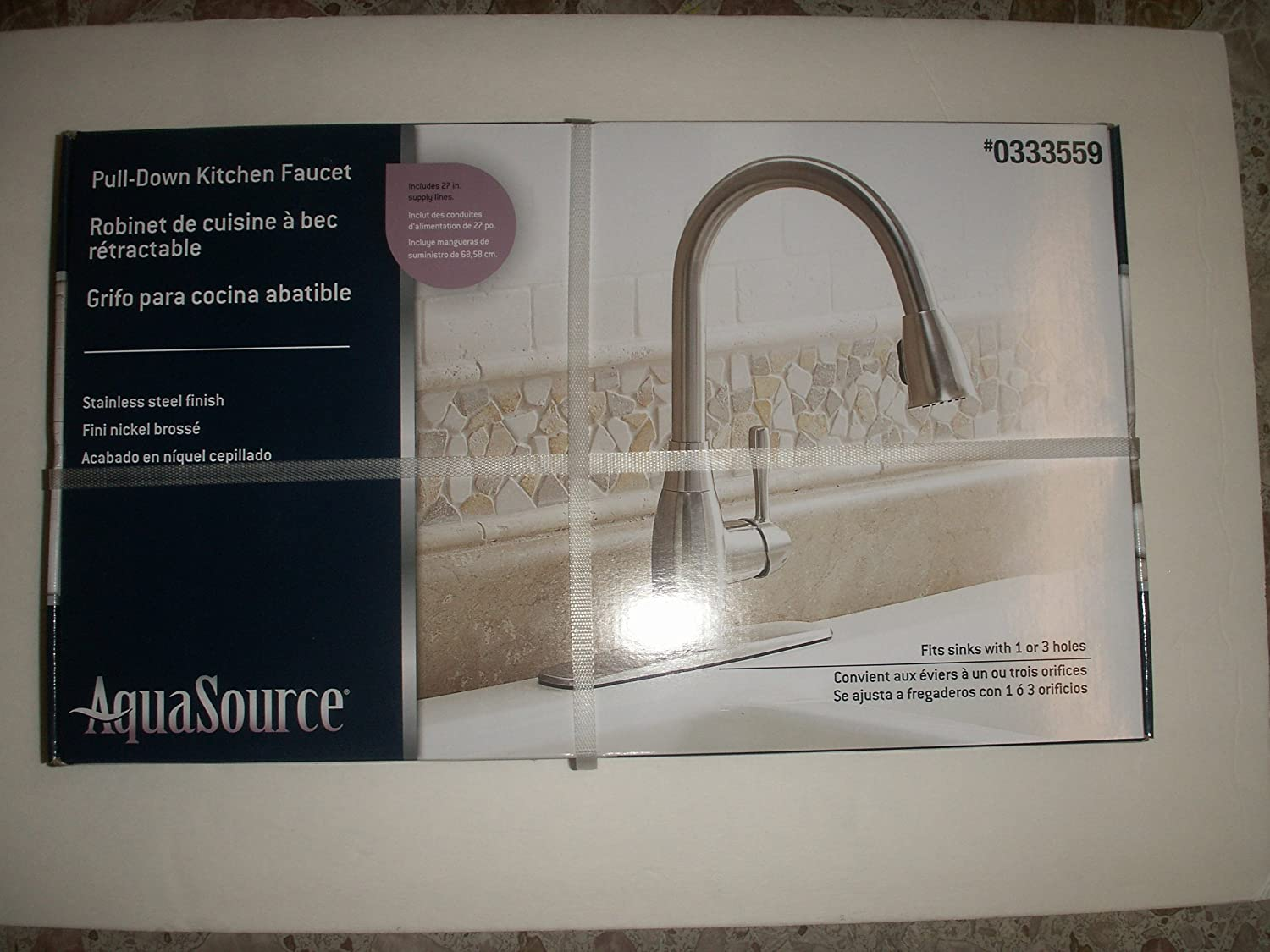 Pull-Down Kitchen Faucet #0333559 BOX. - Touch On Bathroom Sink ...