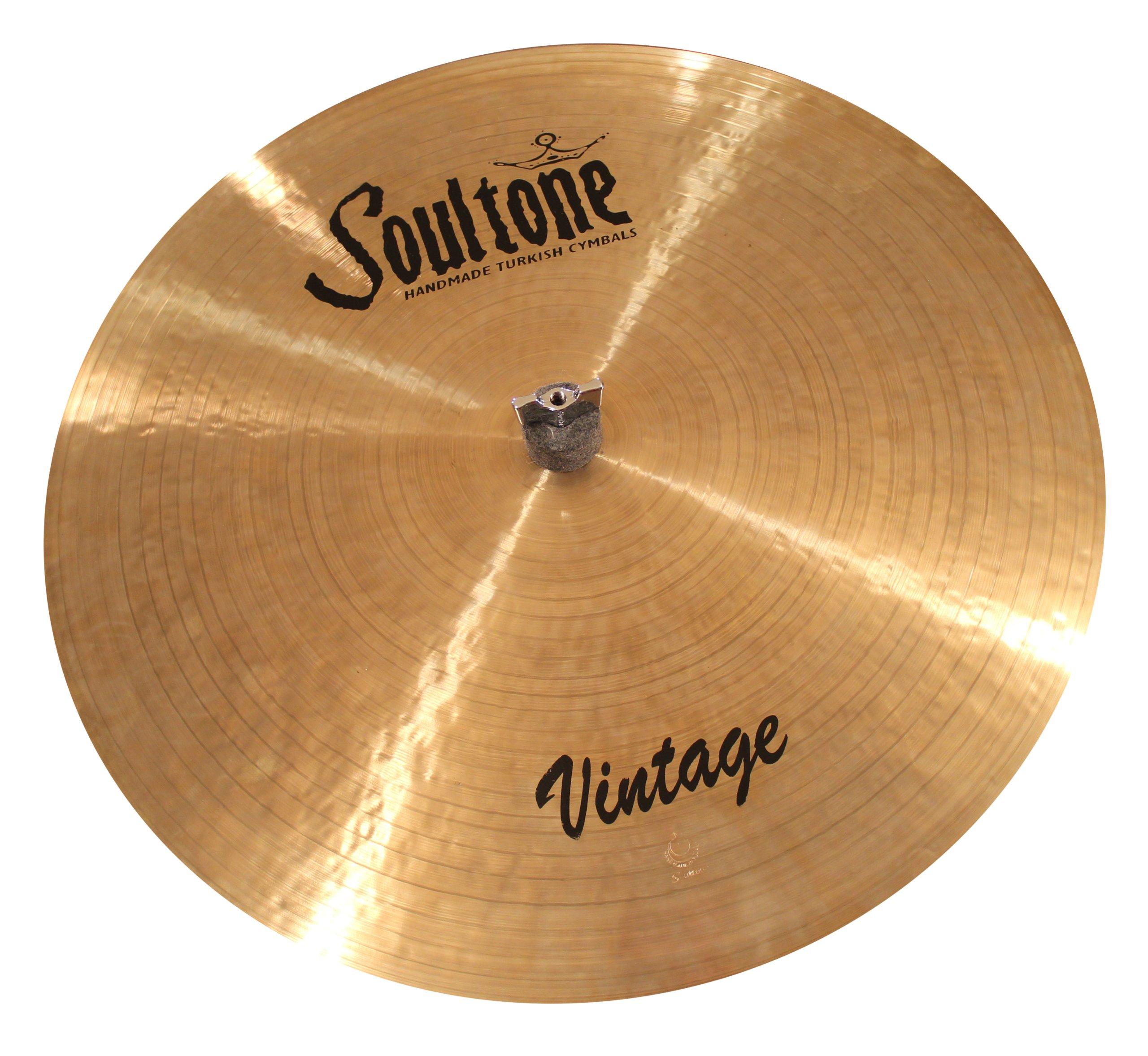 Soultone Cymbals VNT-FLHHTT15-15'' Vintage Flat Hi Hat Top Only by Soultone Cymbals