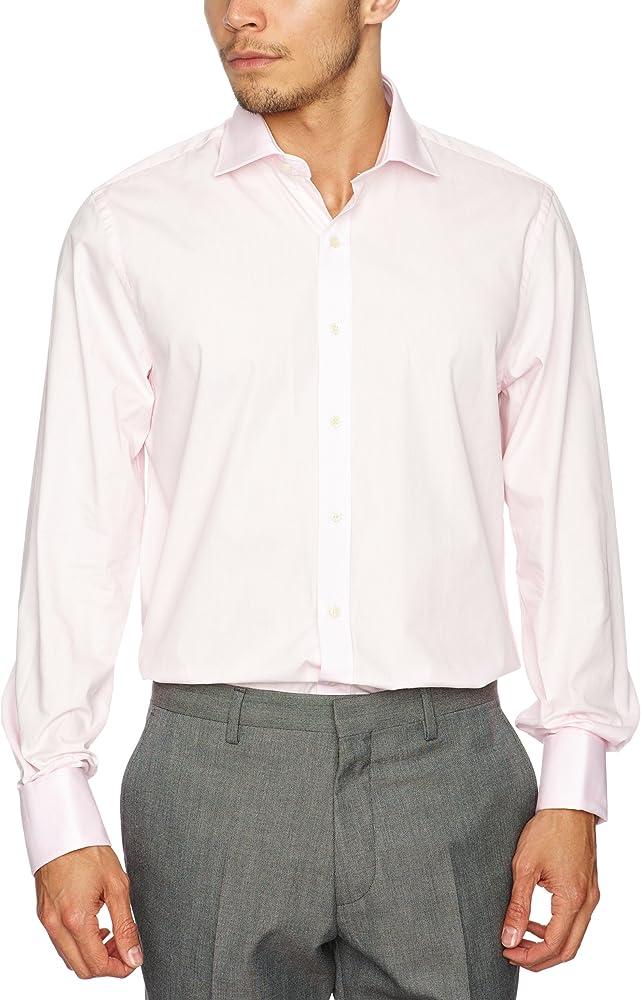 Pierre Cardin - Camisa de Manga Larga para Hombre, Talla 39/40, Color Rosa: Amazon.es: Ropa y accesorios