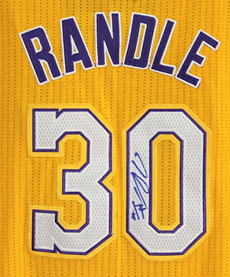 best authentic f6862 770fe Julius Randle Los Angeles Lakers Signed Autographed Yellow ...