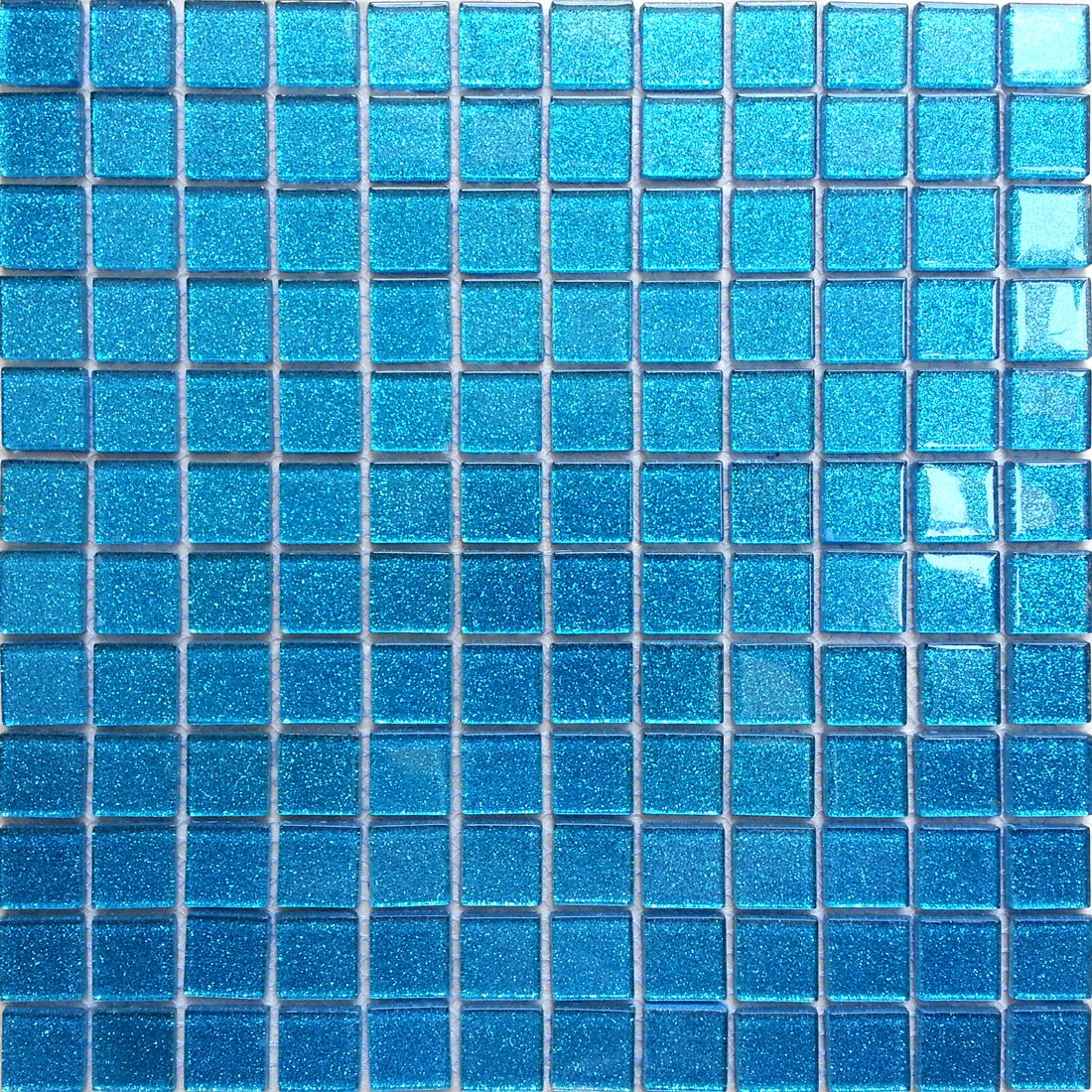 30x30cm Ocean Blue Glitter Glass Mosaic Tiles Sheet MT0008: Amazon ...