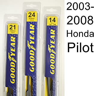 "product image for Honda Pilot (2003-2008) Wiper Blade Kit - Set Includes 24"" (Driver Side), 21"" (Passenger Side), 14B"" (Rear Blade) (3 Blades Total)"