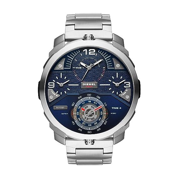 Diesel Reloj Analógico para Hombre de Cuarzo con Correa en Acero Inoxidable DZ7361: Amazon.es: Relojes