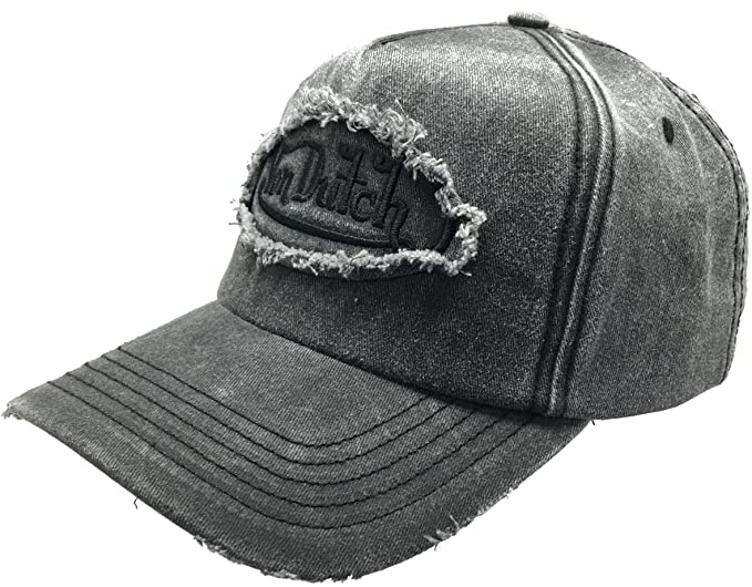 Von Dutch Dad Distressed Baseball Cap Vintage Style Patch Dad Hat Baseball  Cap Polo Style Unconstructed b130bf8f268