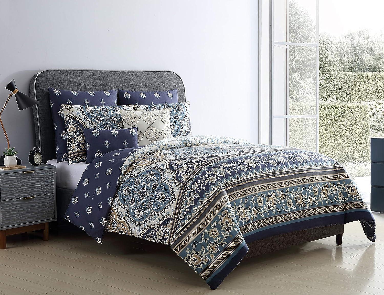 VCNY Home Brule Comforter Sets, King, Blue
