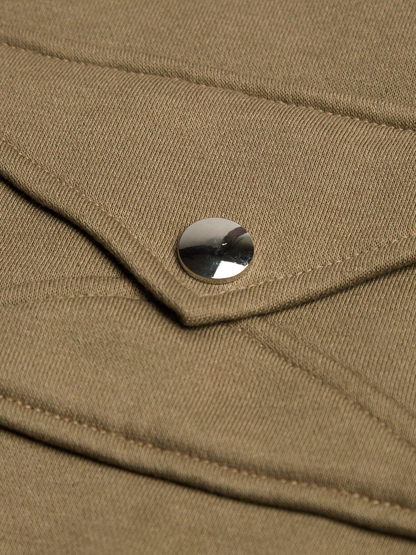 PERSUN Women's Loose Solid Zip Up Sweatshirt Drawstring Fleece Hoodie,Brown,XL by PERSUN (Image #6)