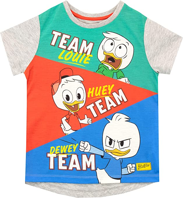 Boy/'s Toddler Disney Duck Tales Short Sleeve T-Shirt Tee Light Blue