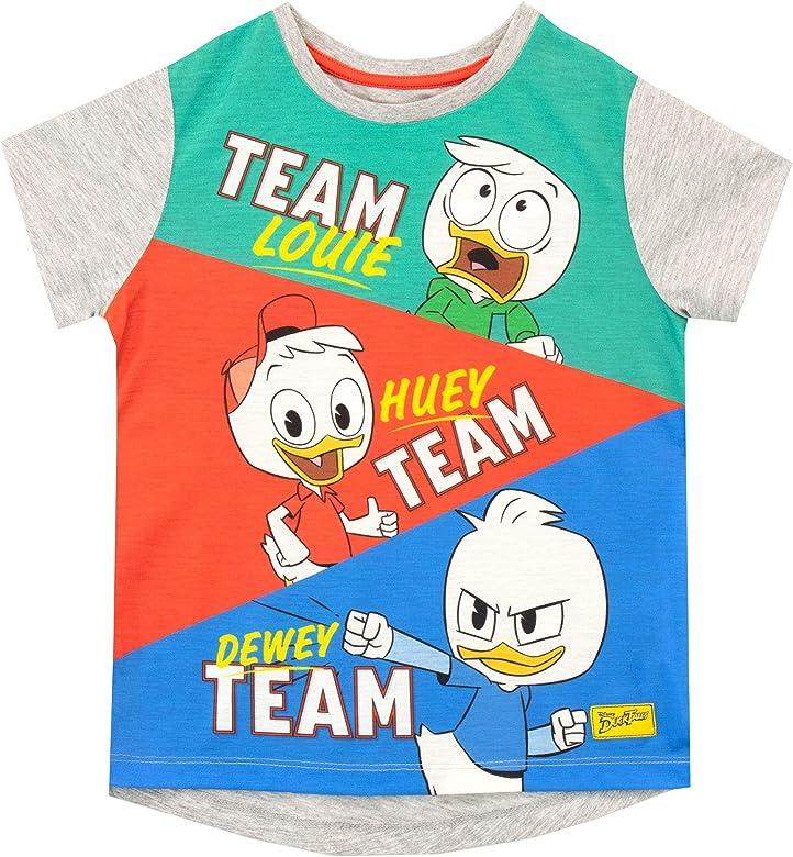 Disney Camiseta de Manga Corta para niños Duck Tales Multicolor 4-5 Años: Amazon.es: Ropa y accesorios