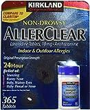 Kirkland Signature Non Drowsy Allerclear Loratadine Tablets, Antihistamine, 10mg, 365-Count Personal Healthcare / Health Care