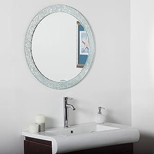 Decor Wonderland Molten Round Bathroom Mirror
