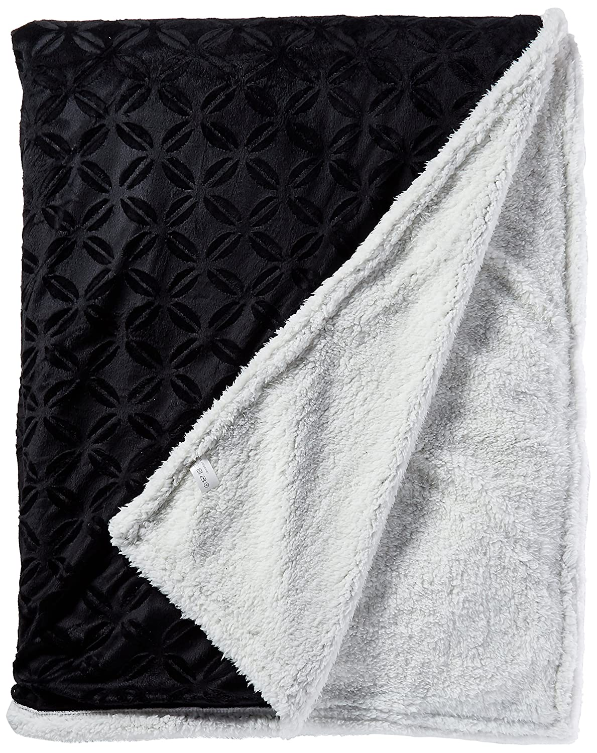 Navy 21RW-Sherpa-Fantasia-King-Navy King Elegant Comfort Luxury Sherpa Blanket on  Micro-Sherpa Ultra Plush Blanket