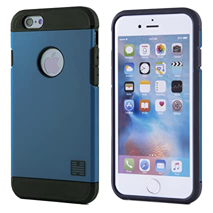 wholesale dealer 35bf9 cb831 32nd Slim Armour Defender Case Cover for Apple iPhone 7 / iPhone 8,  Including Touch Screen Stylus Pen - Slate Blue