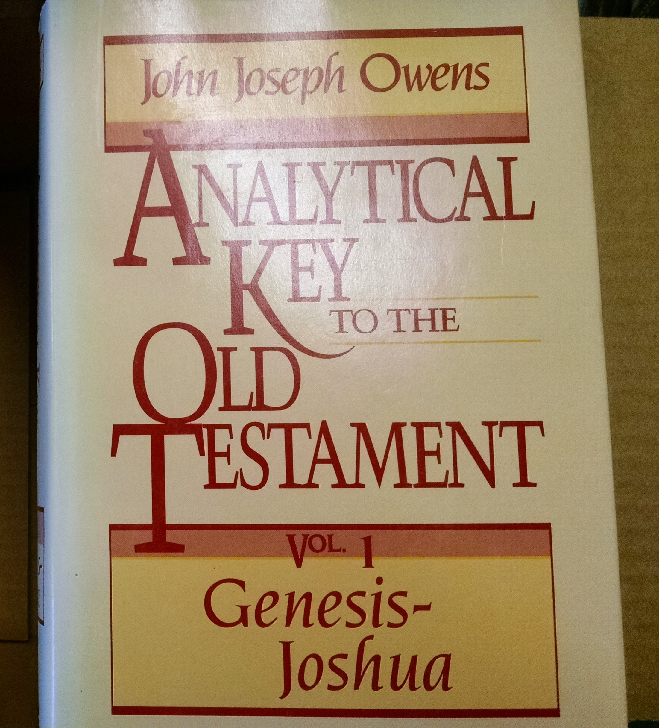 owens analytical guide to the old testament