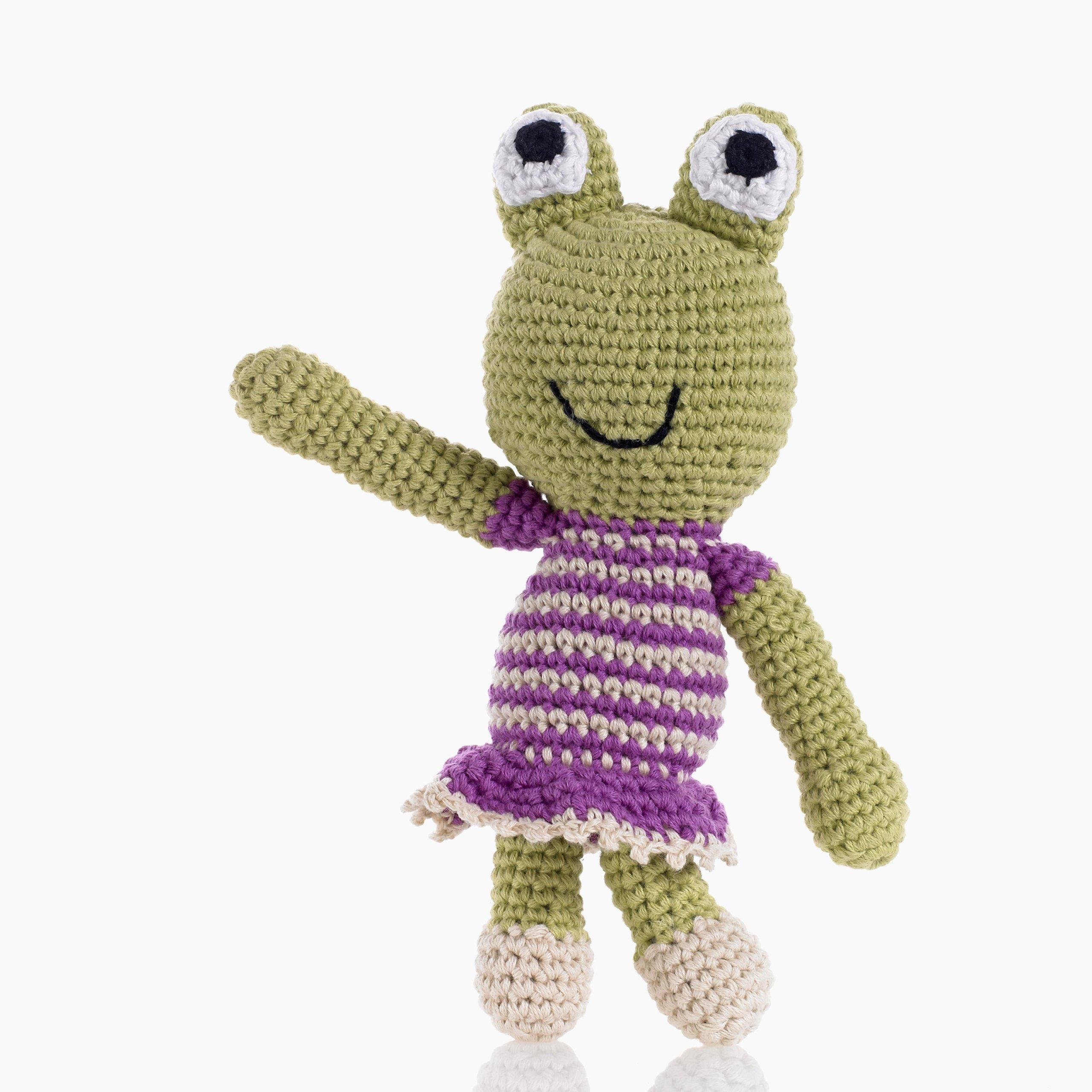 Pebble: Frog Rattle - Girl