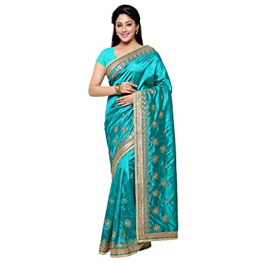 Chirag Sarees Designer Party Wear Firoze Embroidered Saree hellip; available at Amazon for Rs.1852