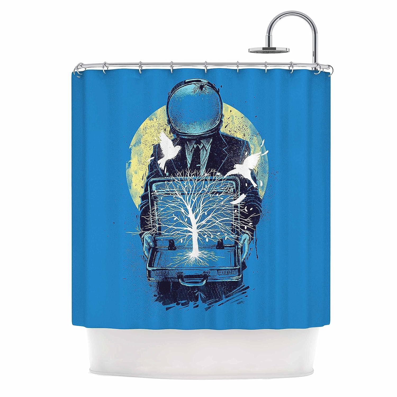 Kess InHouse Digital Carbine A New Life Blue Illustration 69 x 70 Shower Curtain