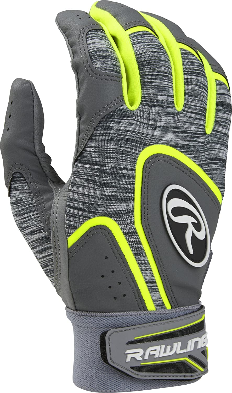 Rawlings 5150野球バッティング手袋、大人用スモール、Opticイエロー B0753L5QPM