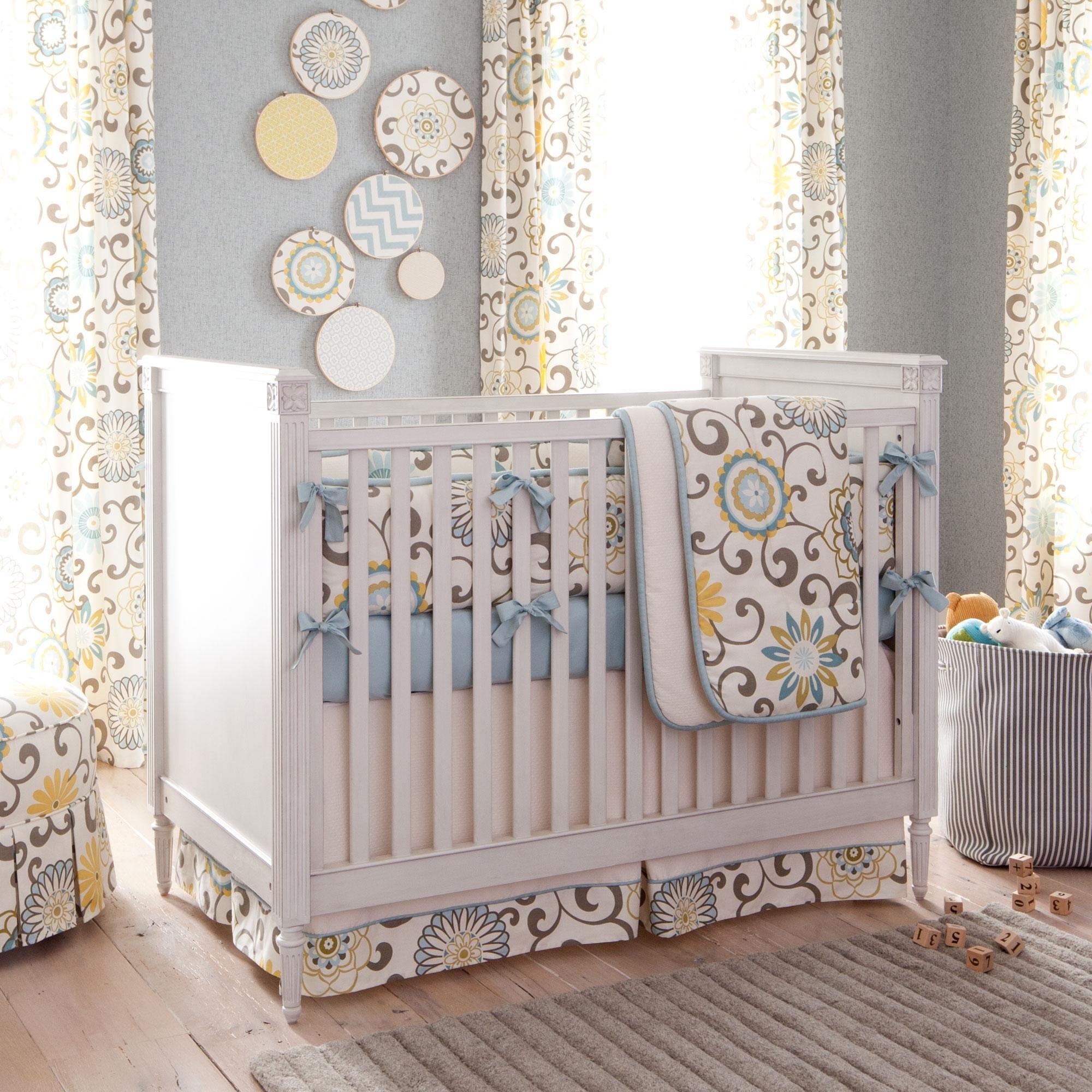 Carousel Designs Spa Pom Pon Play 3-Piece Crib Bedding Set