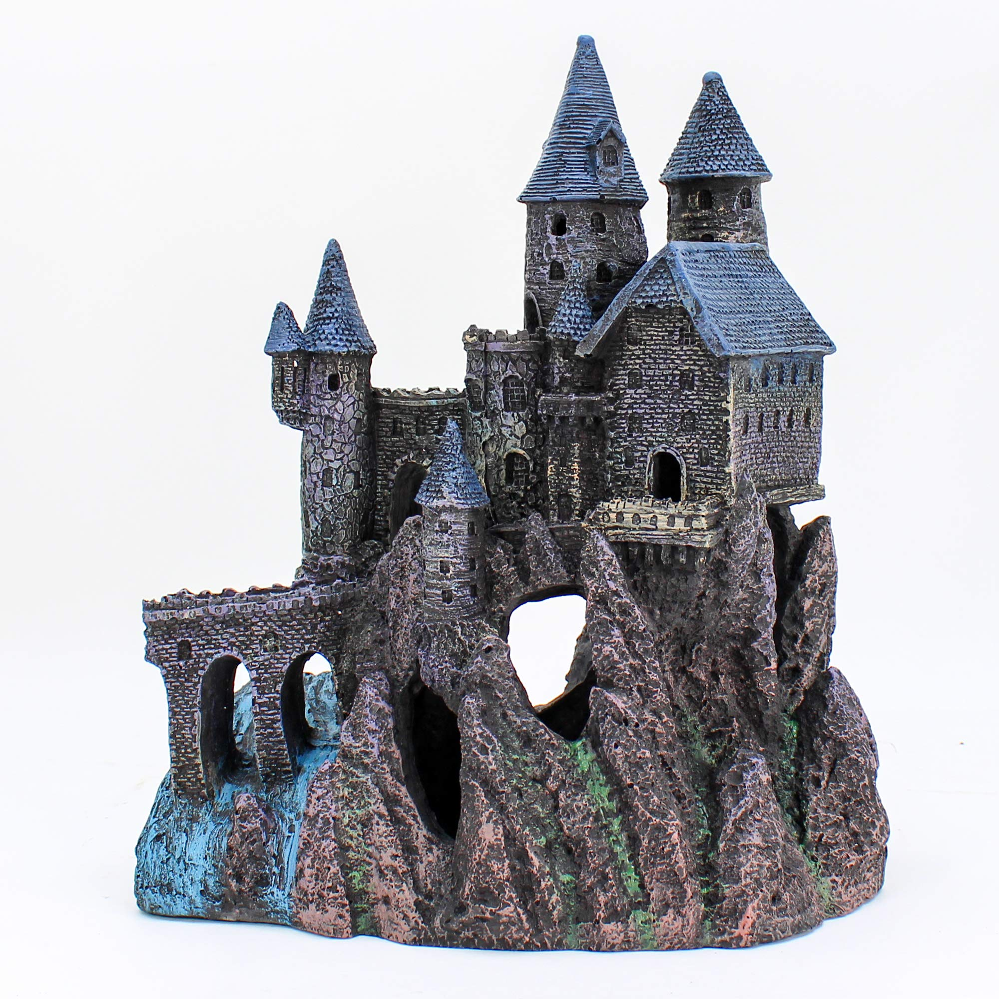 Penn Plax Castle Aquarium Decoration Hand Painted with Realistic Details Over 14.5 Inches High Part B by Penn Plax