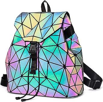 Geometric Backpack Luminous Backpacks Holographic Reflective Bag Lumikay Bags Irredescent Large Rainbow Purses Wallet Set