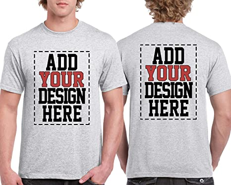 3a12cc77d Custom 2 Sided T-Shirts - Design Your OWN Shirt - Front and Back Printing