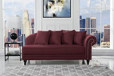 Amazon.com: Large Classic Velvet Fabric Living Room Chaise Lounge ...