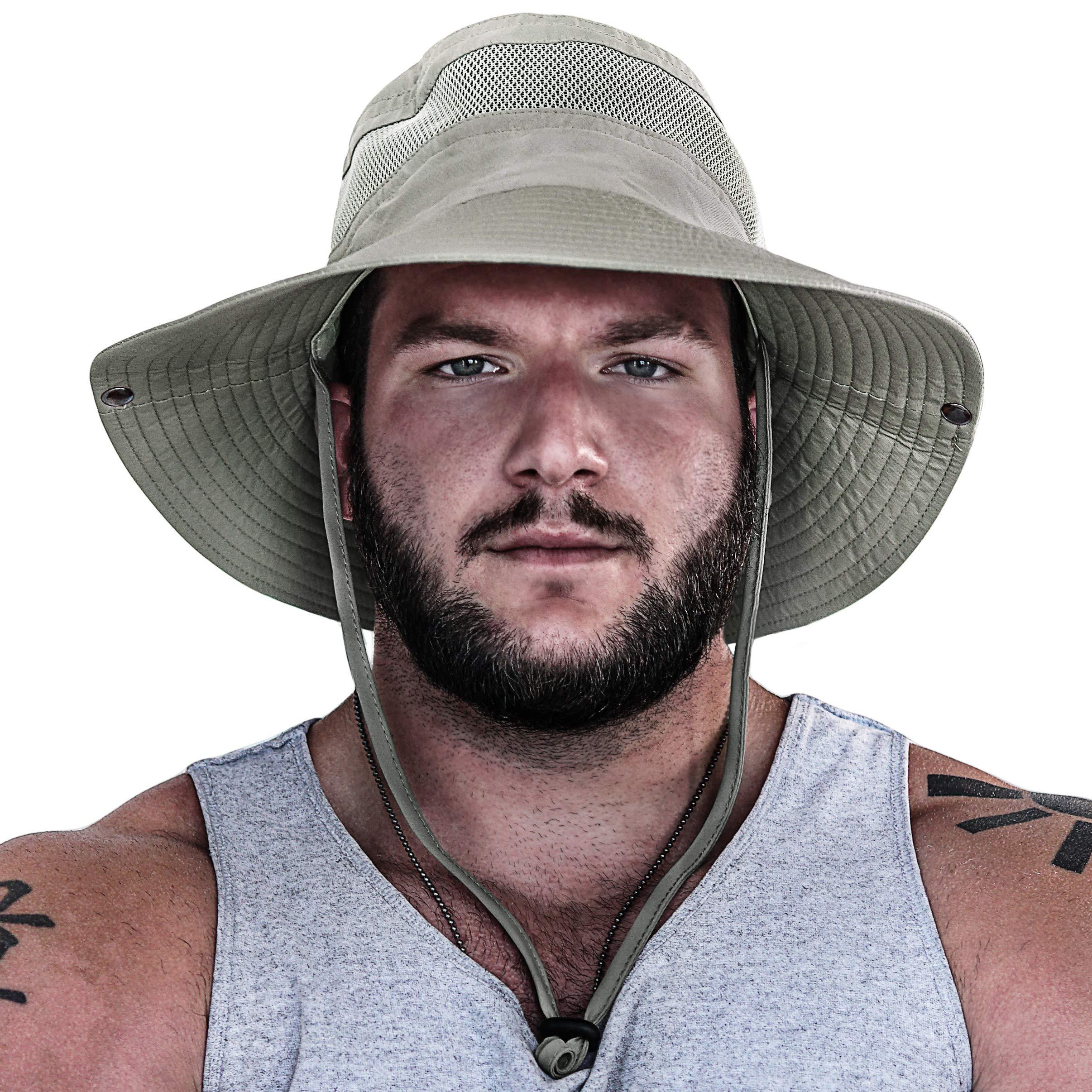 GearTOP Fishing Hat (Khaki - 2 Pack) by GearTOP (Image #3)
