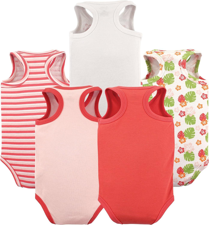 Luvable Friends Baby Girls Sleeveless Cotton Bodysuits