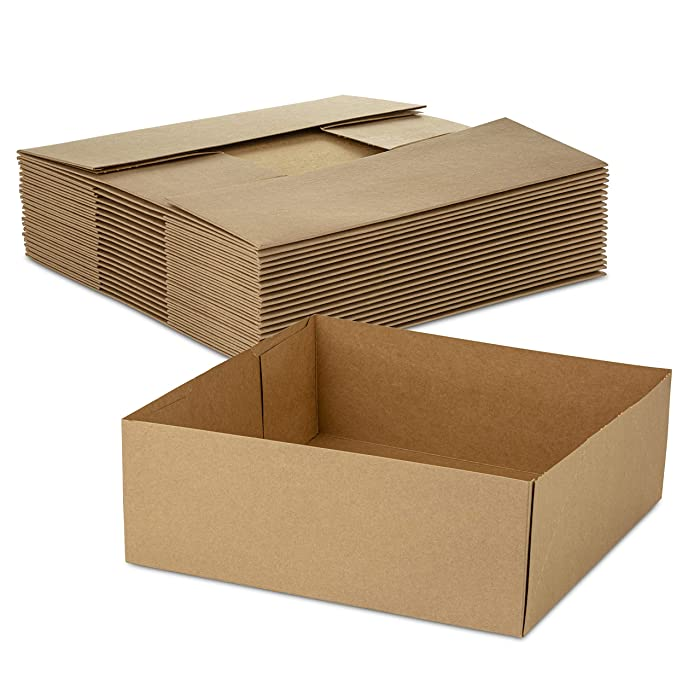 Paperboard 4 Corner Pop Up Food Tray for Holding Food at Stadiums or Theaters (20 Pieces)