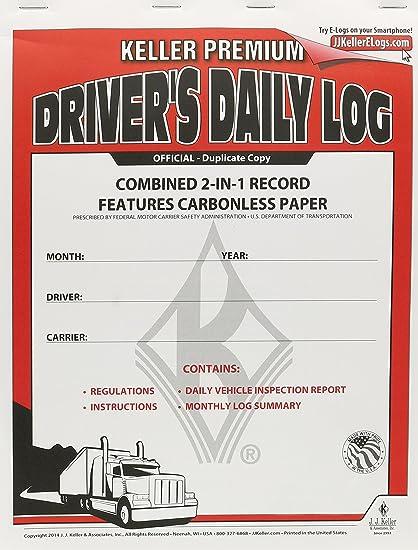 JJ Keller 8530 2-in-1 Driver's Daily Log Book with Detailed DVIR