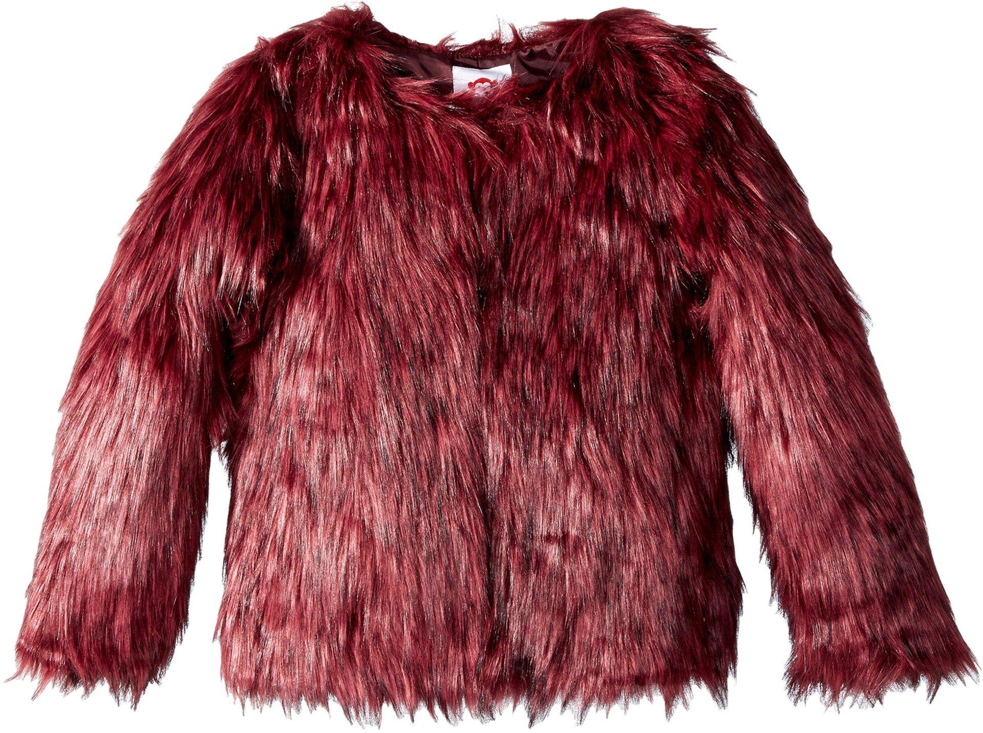 Appaman Kids Baby Girl's Faux Fur Fully Lined Coat (Toddler/Little Kids/Big Kids) Garnet 4