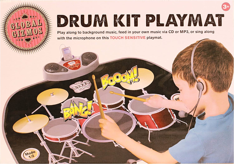 Ardisle Drum Kit Playmat Kids Boys Childrens Christmas Gift Stocking Filler Xmas Toy