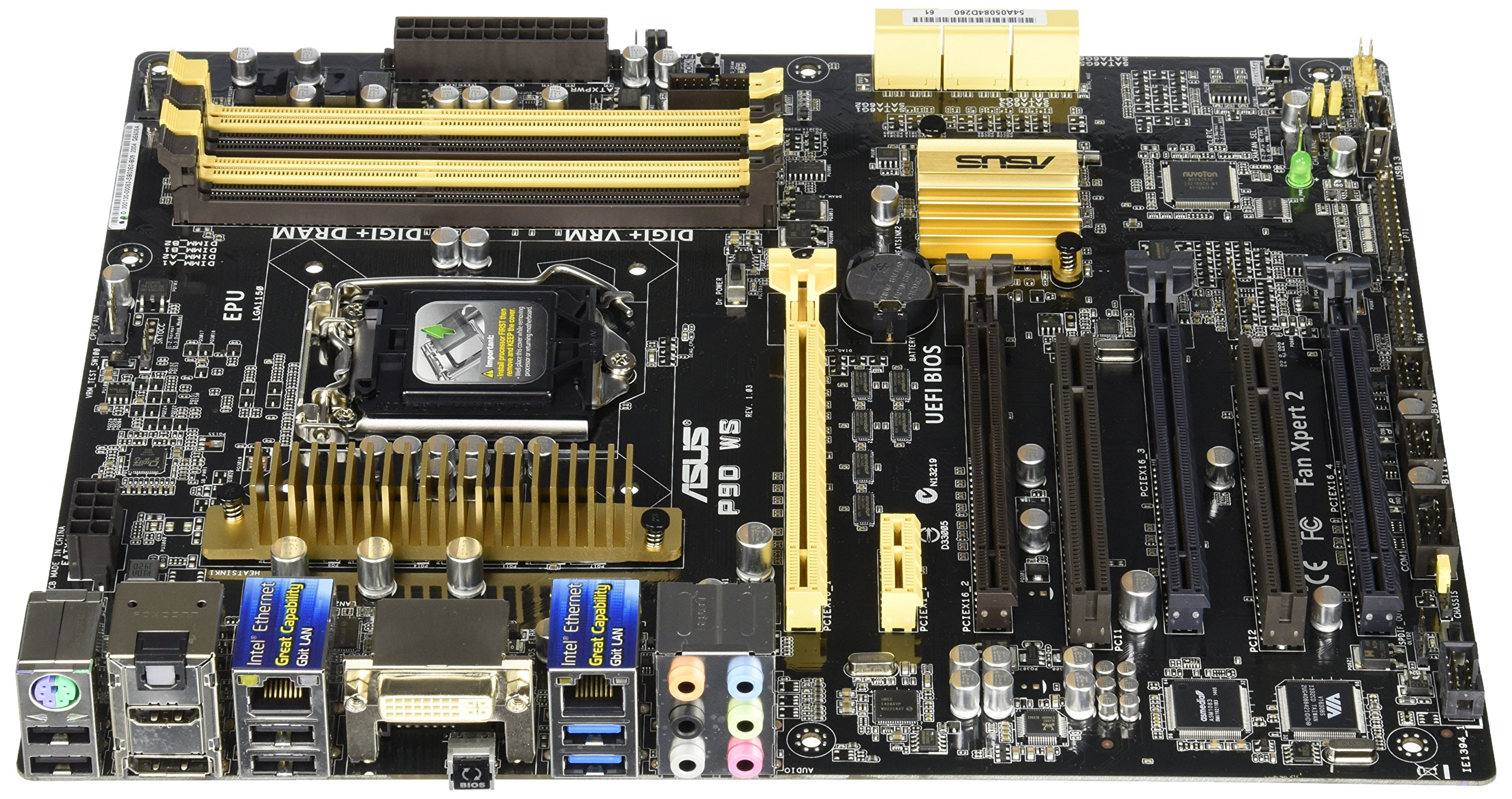 ASUS P9D WS Intel LGA1150 Dual server-grade Intel LAN ATX Server Workstation Motherboard, entry-level Workstation Software certified