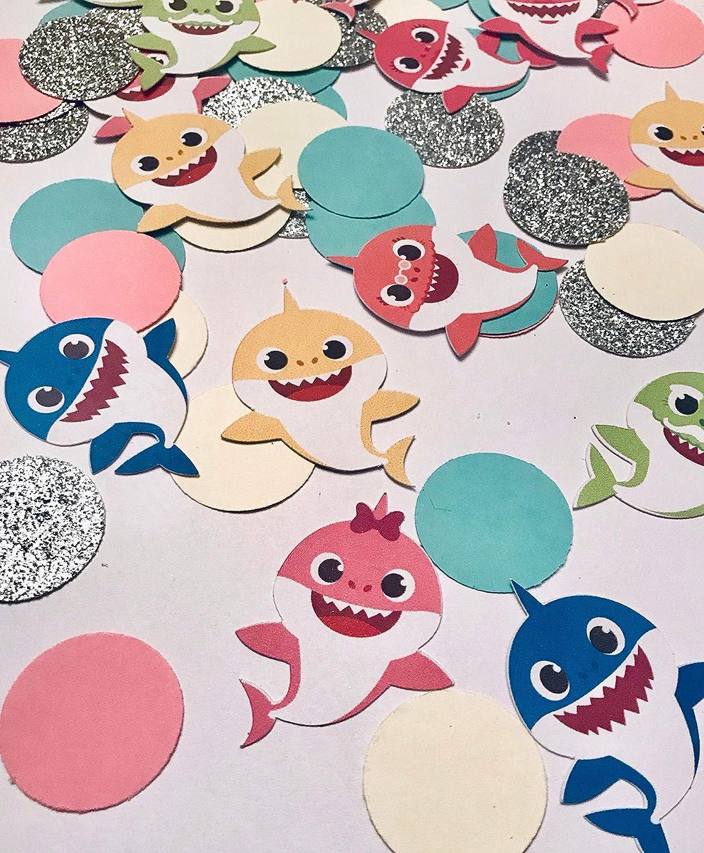Baby Shark confetti baby shark birthday 100ct baby shark table scatter baby shark decor baby shark party baby shark theme shark confetti