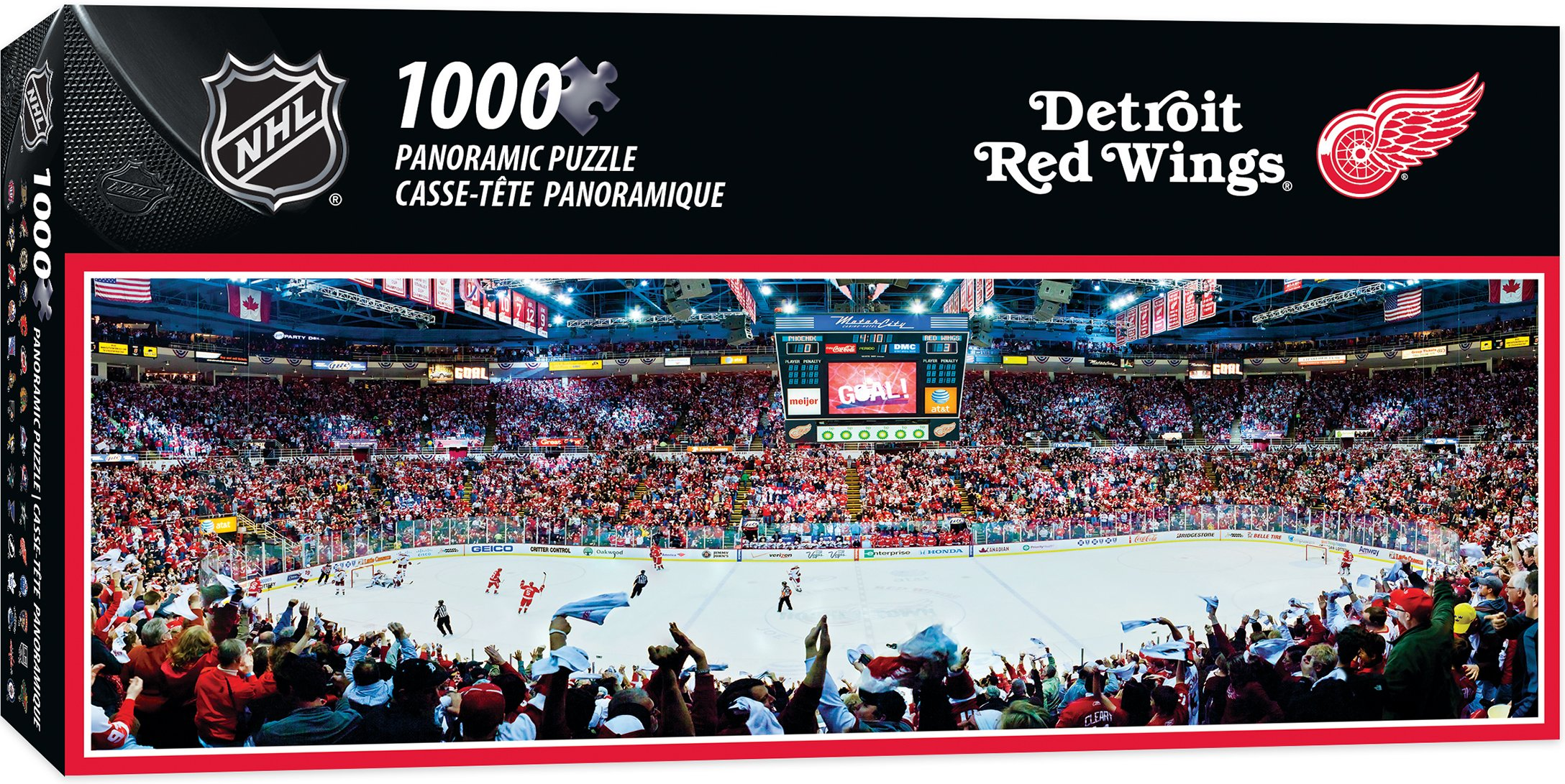 MasterPieces NHL Detroit Red Wings 1000 Piece Stadium Panoramic Jigsaw Puzzle