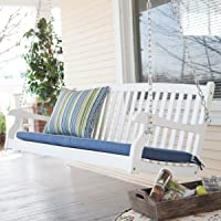 Coral Coast Pleasant Bay Curved Back Acacia Wood Porch Swing