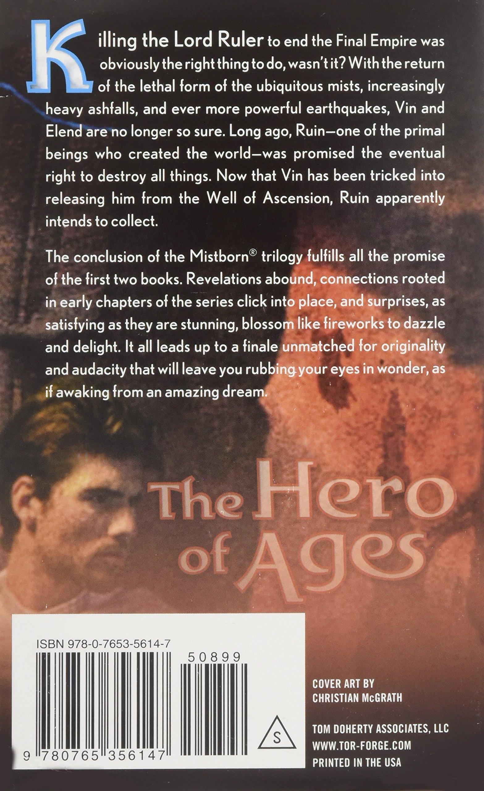The Hero Of Ages: Book Three Of Mistborn: Brandon Sanderson: 9780765356147:  Amazon: Books