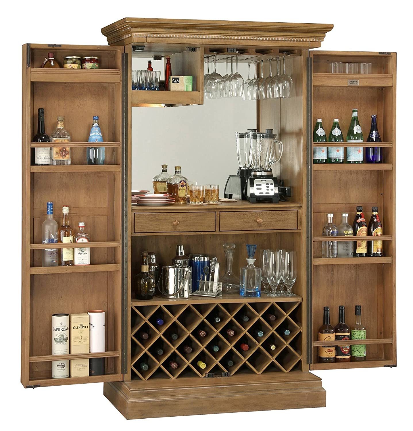 Amazon.com: Howard Miller Clare Valley Wine and Bar Storage ...